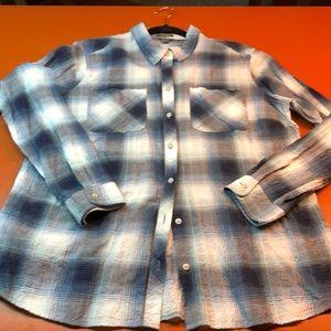 Eddie Bauer women's plaid shirt, size XL